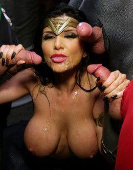 Big tits pornstar Romi Rain dressed..