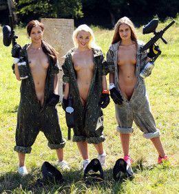 Young paintball girls fucked in the..