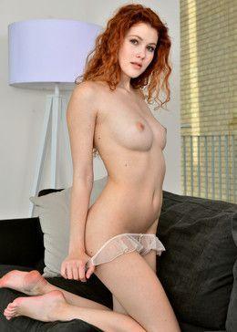 Redhead curly hottie Heidi Romanova..