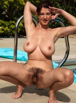 Amateur women with luxuriant bushes..