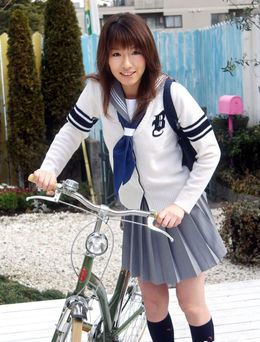 Japanese schoolgirl in uniform