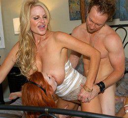 Slutty babe Dani Jensen and her bosomy..