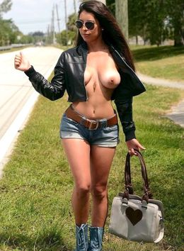 Busty and dissolute road hooker Sofia..
