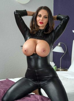 Latex dressed busty MILF Ava Addams..