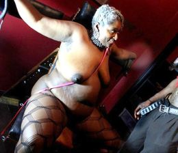 Black husband tied up his fatty ebony..