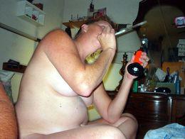 Thick and naked grandma smokes ganja