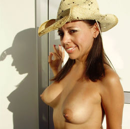 Pierced nipple milf having fun on..