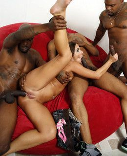 Slim babe Amirah Adara takes three..