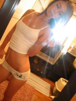 Exciting naked teens in front of..
