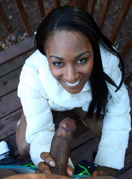 Very sexy ebony girl without panties..