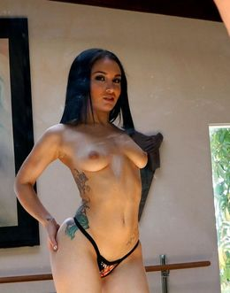 Horny tattooed Gabriella achieving..