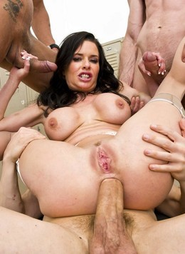 Anal punished during gangbang pornstar..