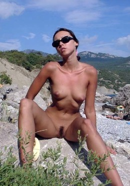 Crimean south beach and nude Daria..