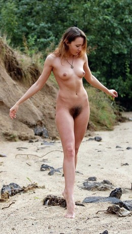 Crimean wild beach girl Daria with..