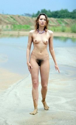 Nude in Russia untidy girl with hairy..