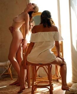 Charming nude Dasha with her bestie..
