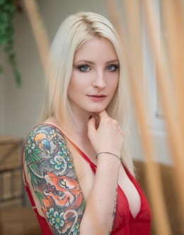 Tattooed rouge cinderella with..