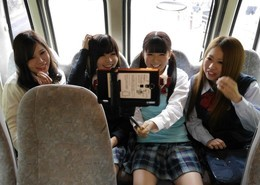 Asian gangbang school bus