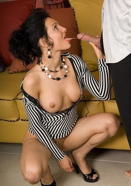 French brunette Dalila takes Sanson's..