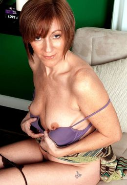 Redhead mature amateur in sheer..