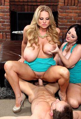 Horny Ryan bangs his huge titted wife..
