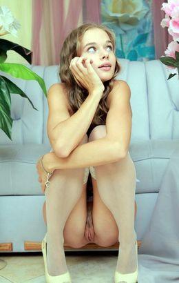 Fantastic tiny brunette Milena D..